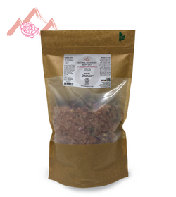 Natural Himalayan Bath Salt & Organic Rosebuds 765g Biodegradable Bag