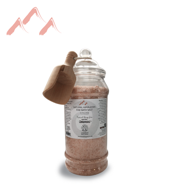 Himalayan FINE Bath Salt JAR-Scoop 1050g