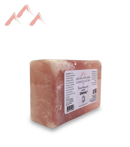 Natural Cleansing Himalayan Salt Bar for exfoliation of the body