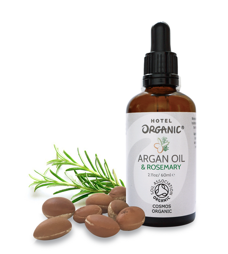 Argan Oil with Rosemary Essential Oil, 100% Organic, Certified Organic, Energising, Miracle Oil 60ml
