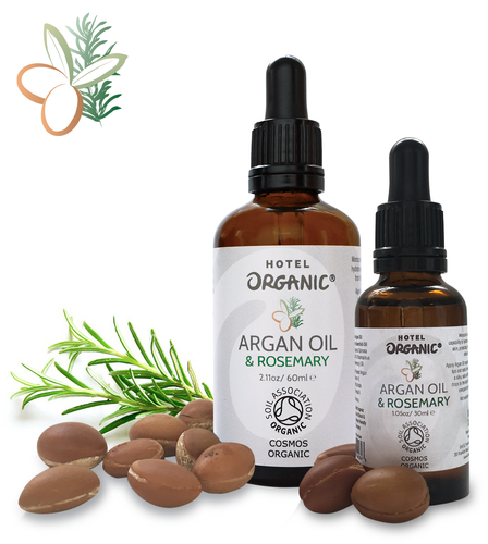Handmade Moroccan Virgin Certified Organic Argan Oil & Rosemary