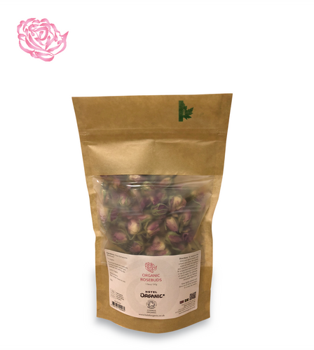Certified Organic Rosebuds 50g in Biodegradable Bag
