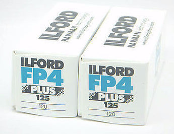 1678169 2Pk Ilford FP4 Plus 125 B&W 120 roll film Fresh