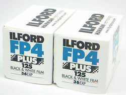 1649651 2pk Ilford FP4 Plus 125 B&W Film 135x36 Fresh