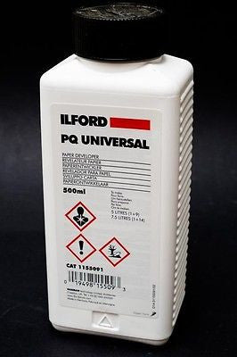 1155091 Ilford PQ Universal B&W Paper Developer, 500ml, makes 5L [BKD]