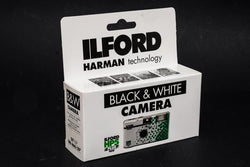 Ilford 35mm disposable film camera loaded with B&W HP5 400 ISO