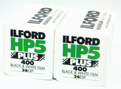 1574577 2X Ilford HP5 Plus 400 B&W Film 135x36 Fresh