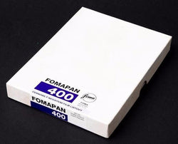 1x 50 Pack Fomapan 400 ISO B&W Sheet film 4x5