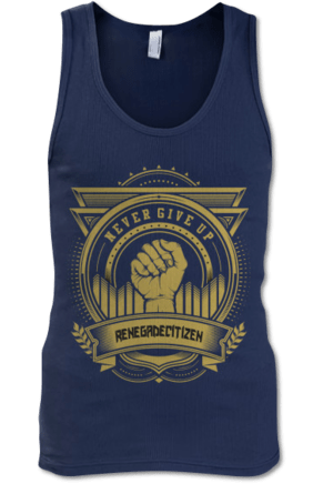 Never Give Up Men's Tank Top