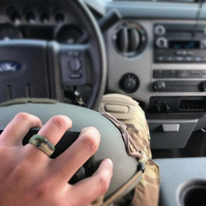 Men's Camo Silicone Wedding Ring
