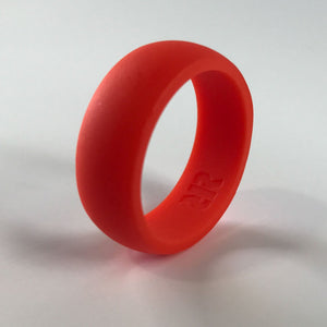 Men's Bright Orange Silicone Ring