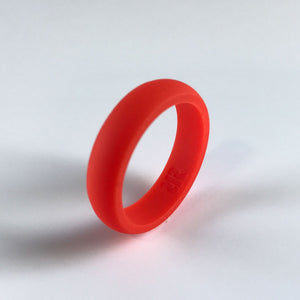 Women's Bright Orange Silicone Ring
