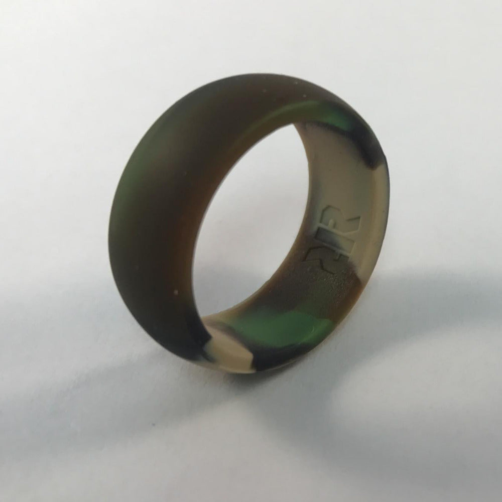 camo engagement construction wedding content rings