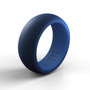 Men's Blue Silicone Ring