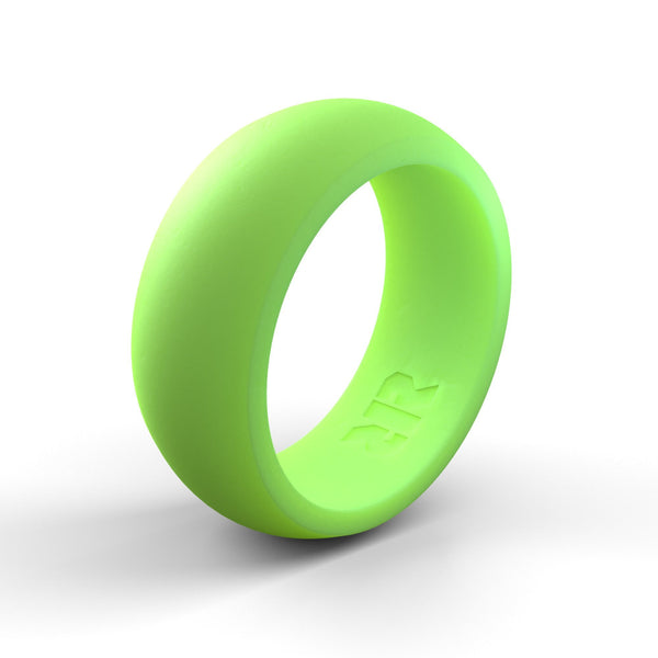 Men's Light Green Silicone Ring