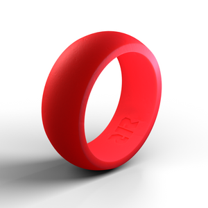 Men's Red Silicone Wedding Ring