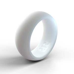 Men's White Silicone Ring