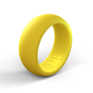 Men's Yellow Silicone Ring