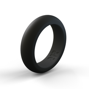 Women's Black Silicone Wedding Ring