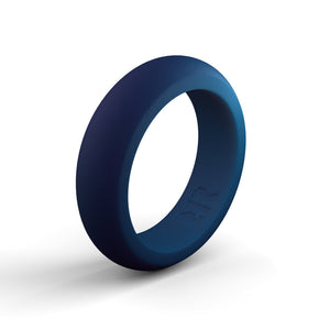 Women's Navy Blue Silicone Ring