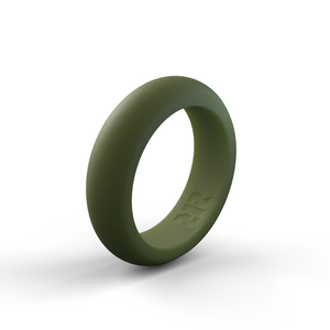 Women's Green Silicone Ring
