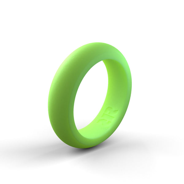 Women's Light Green Silicone Ring