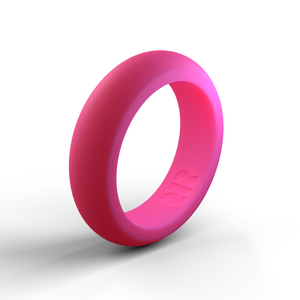 Women's Pink Silicone Wedding Ring