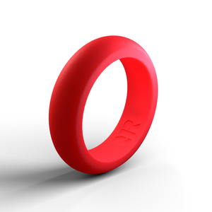 Women's Red Silicone Wedding Ring