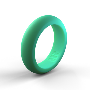 Women's Aqua Silicone Wedding Ring