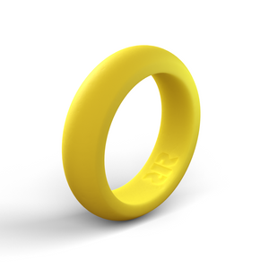 Women's Yellow Silicone Ring