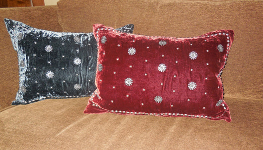 Velveteen Concho Pillow