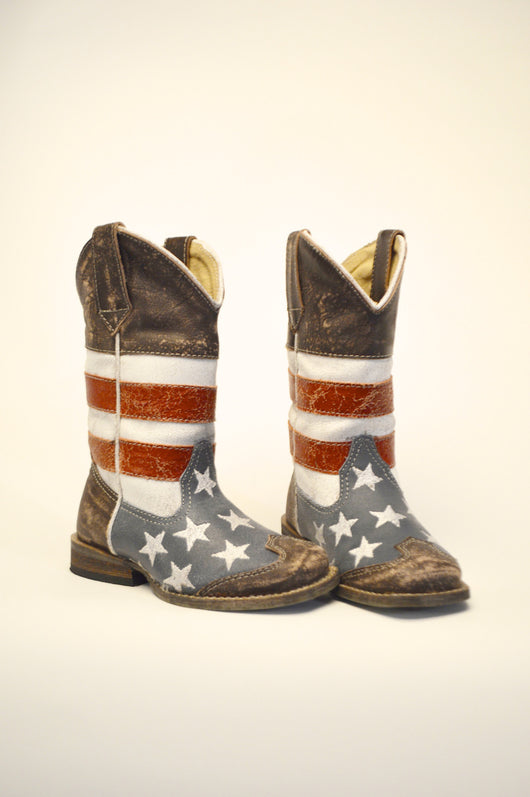 Infant & Kids American Flag Boots