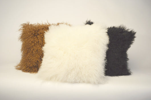 Tibetan Lamb Fur Throw Pillows