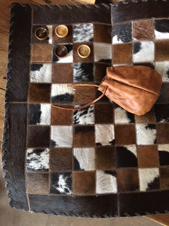 Genuine Cowhide Checker Board