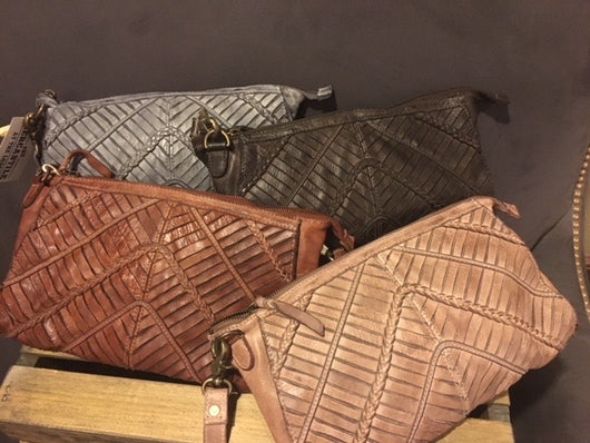 Woven Leather Purse
