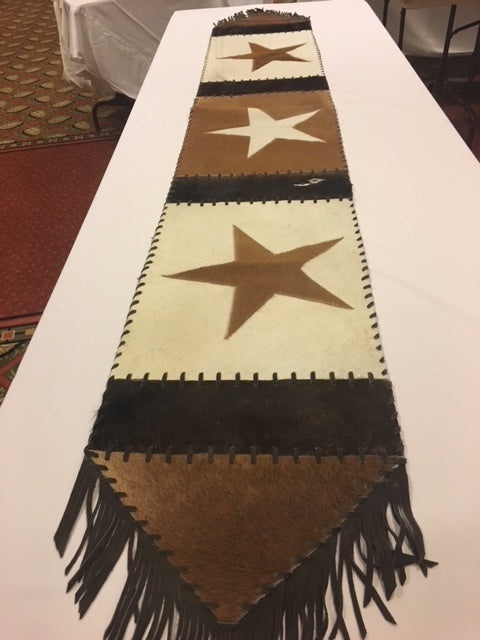 Genuine Cowhide Table Runner