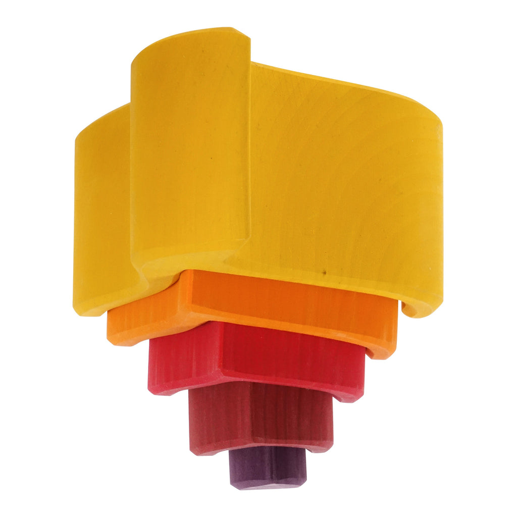 Flamme empilable jaune (2 formats)
