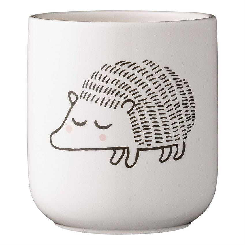 herisson pot a fleur flower hedgehog ceramic pot