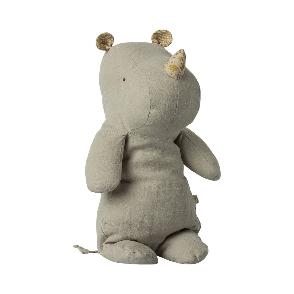 Peluche Safari RHINO - Medium gris pâle