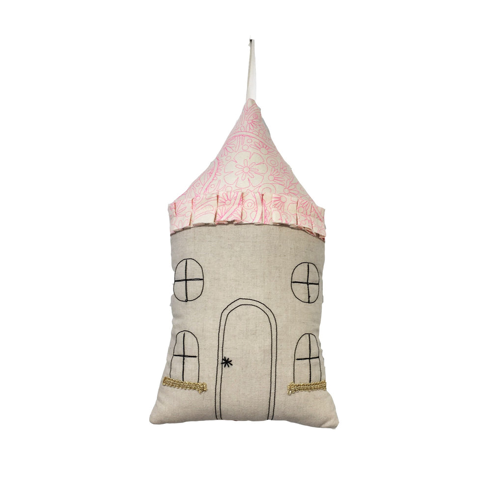 House maison handmade yellow mustard kids room enfant fait main broderie veilleuse nightlight Rose