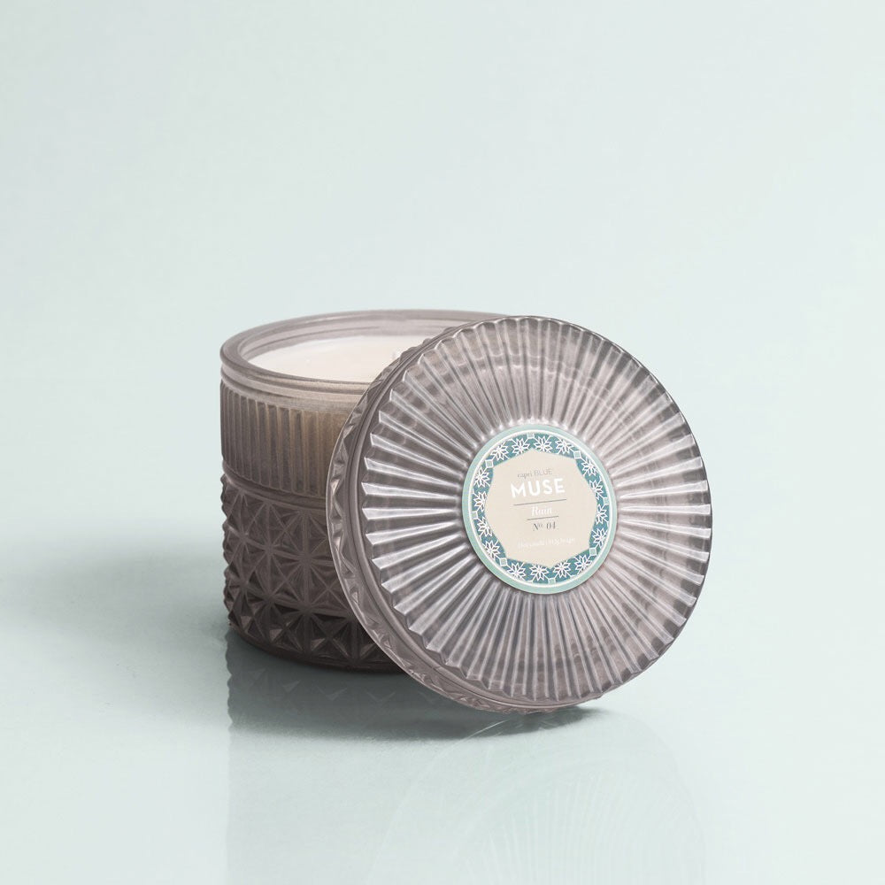 Chandelle fleur floral candle Grey decoration