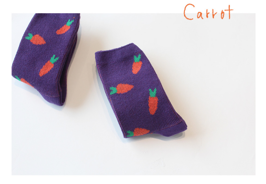Chaussettes antidérapantes (pack of 5) - Veggies