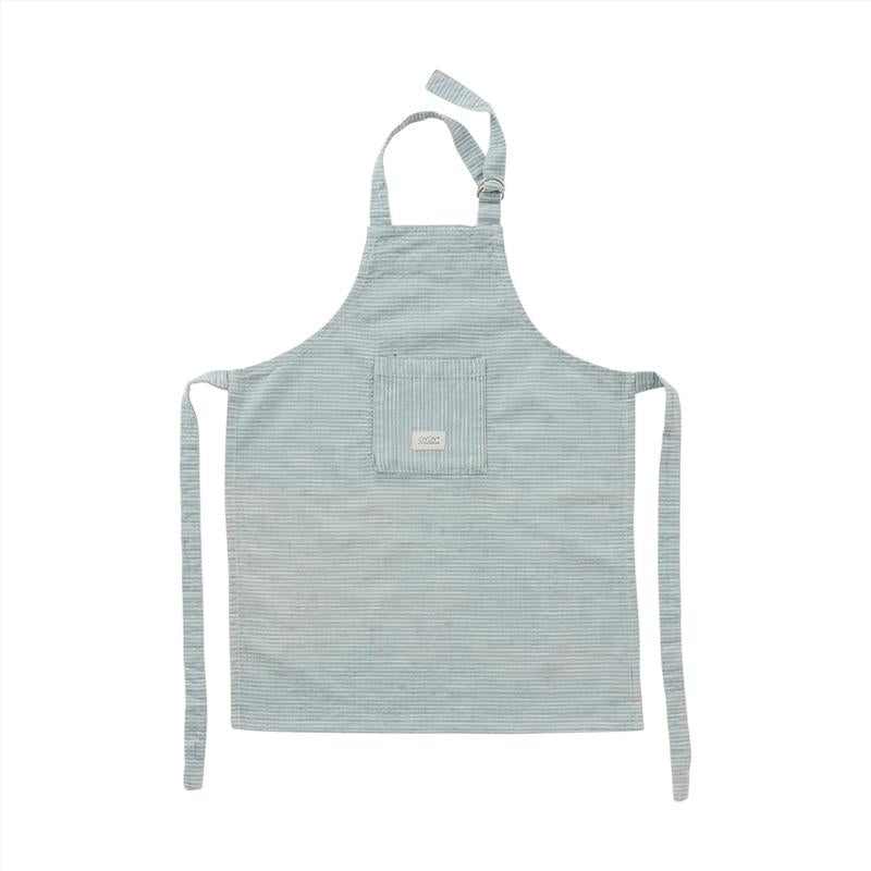Tablier enfant coton bio - Dusty blue