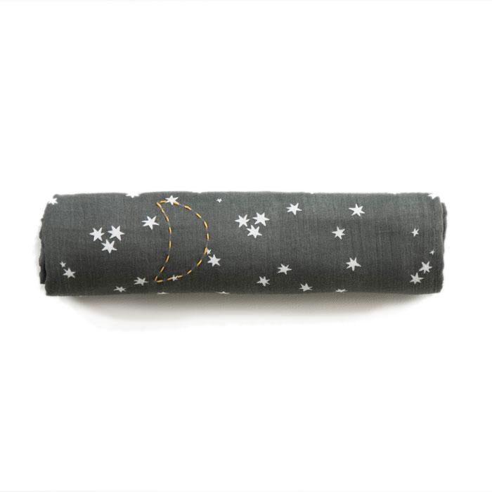 Elliefunday_swaddle_rylee_star_stardust_etoile_charcoal_mousseline_muslin_cute_kids_babyshower_baby_fashion_tendance_x