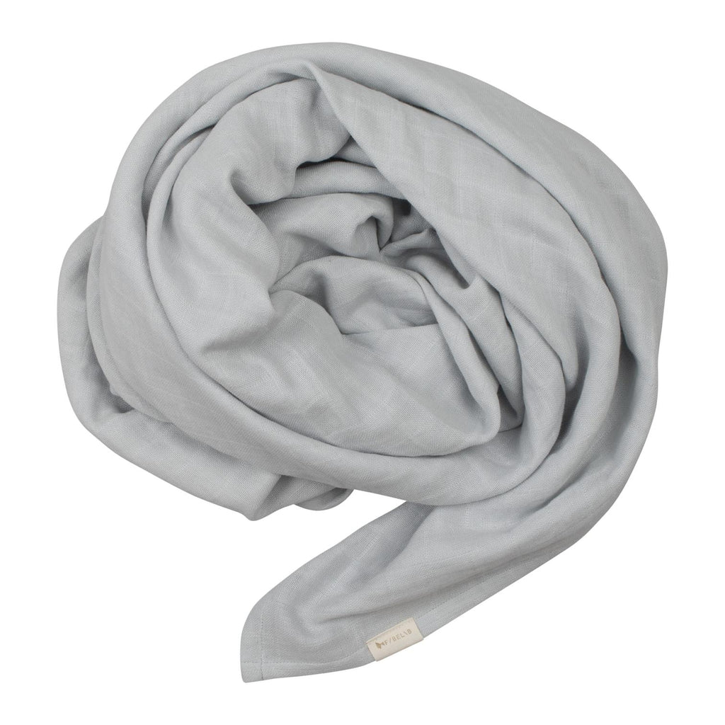Couverture mousseline coton bio - Icy grey