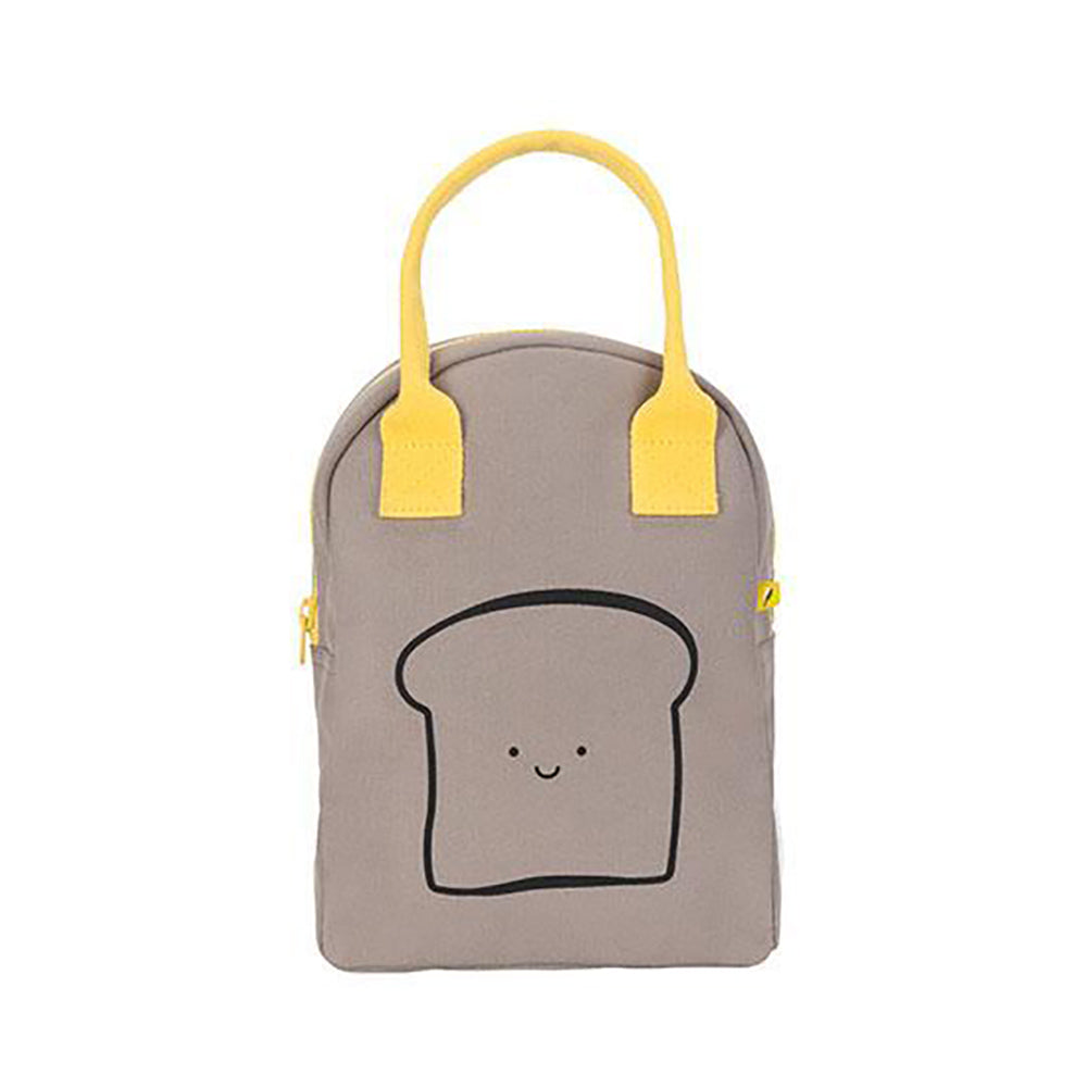 Fluf_boitealunch_lunchbox_PAIN_bread_grey_gris_jaune_collation_cas_réutilisable_coton_bio_cotton_produit_canadien_local_kids_school_école_enfant