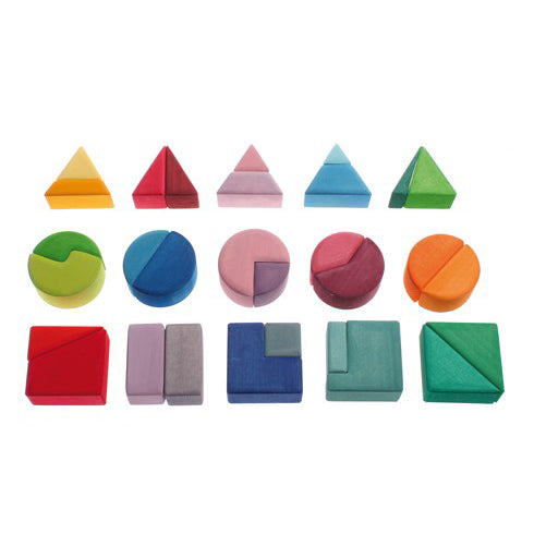 Blocs construction (30 pcs) - Triangle / carré / cercle