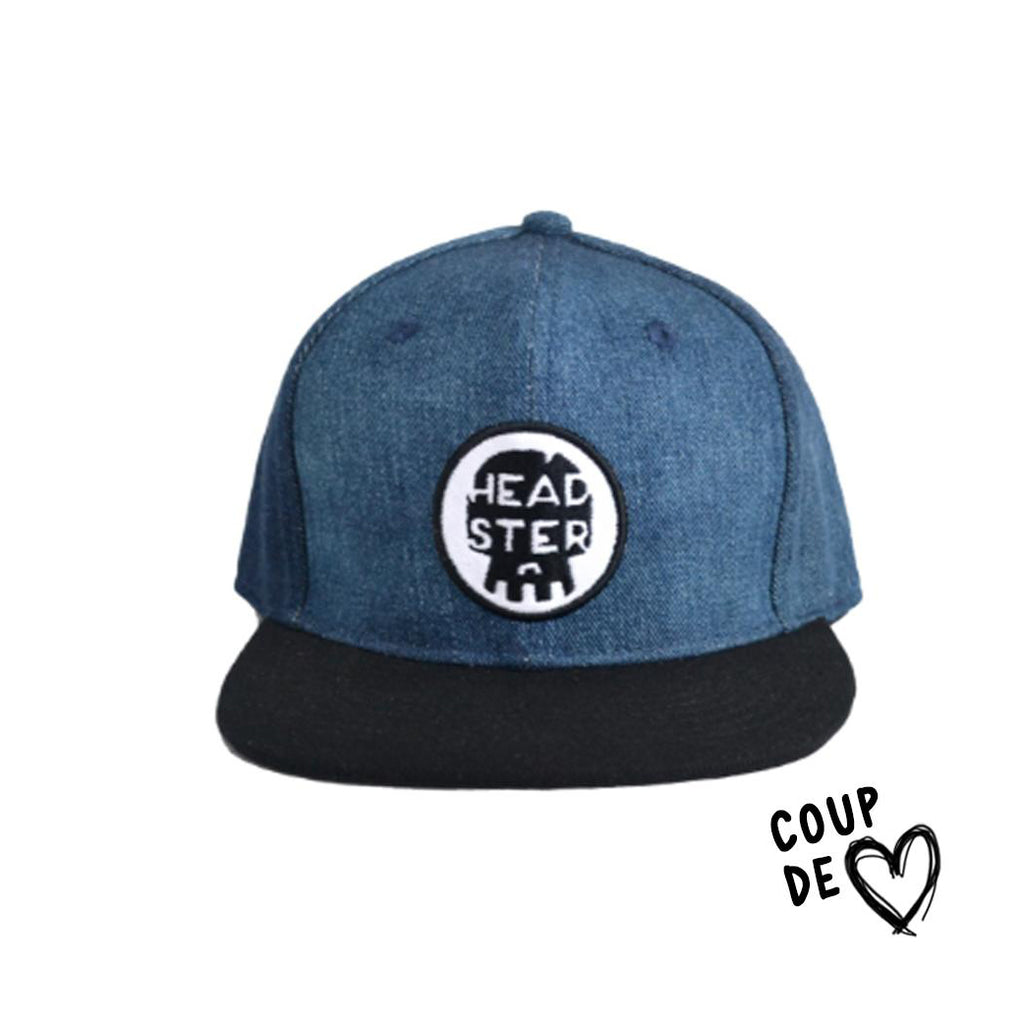 Headsterkids_casquette_baseball hat_jeans_denim_blue_black_accessoire_baby_kids_youth_quebec