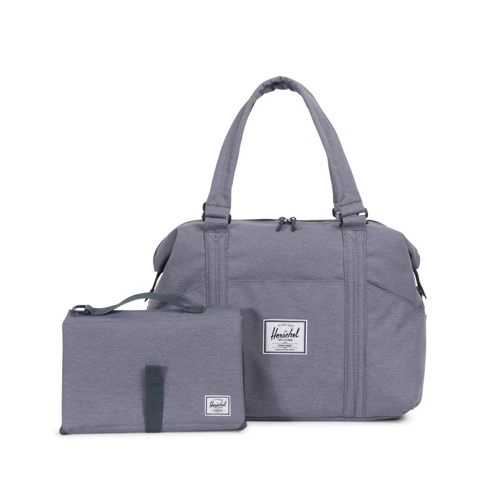 herschel-sac à couche_duffle bag_maman_mom_essential_bag_diaper_matelas à langer_grey