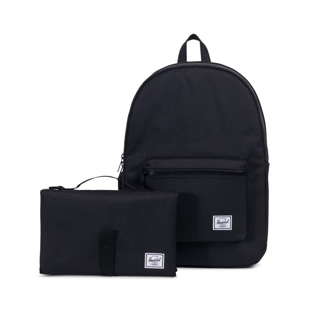 herschel_sac à dos_couche_diaper_bag_changing mat_mom_maman_essentiel_unisex_noir_black